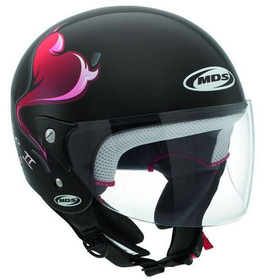 Mds by Agv Free II Multi Heart jet helmet black