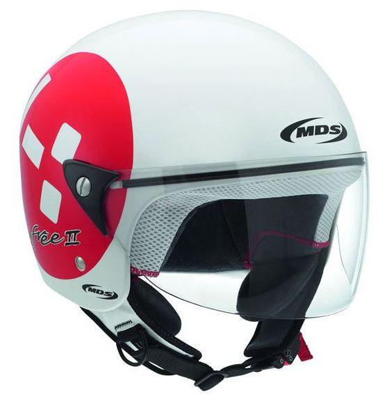 Casco moto Mds by Agv Free II Multi Emoticon bianco-rosso