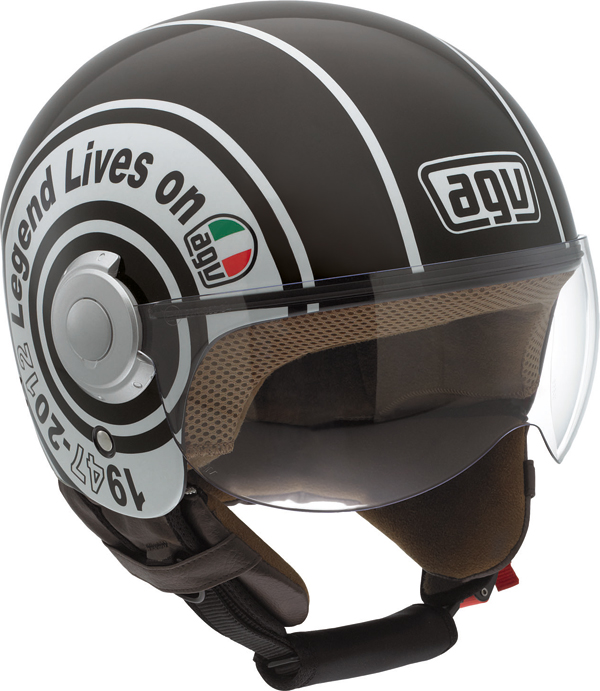 Casco moto Agv Bali Copter Multi Legend nero