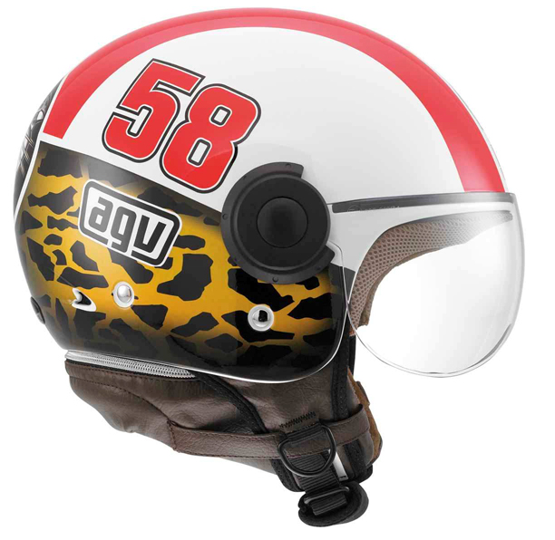 Agv Bali Copter Special Simoncelli Tribute jet helmet