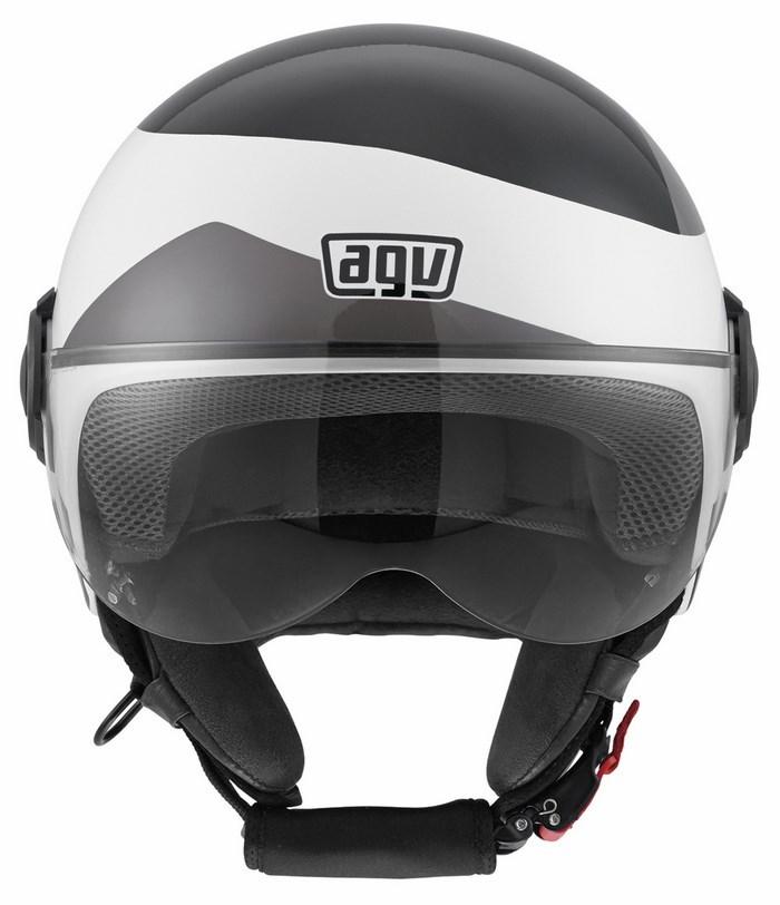 Casco moto Agv Bali Copter Multi Visual bianco nero grigio