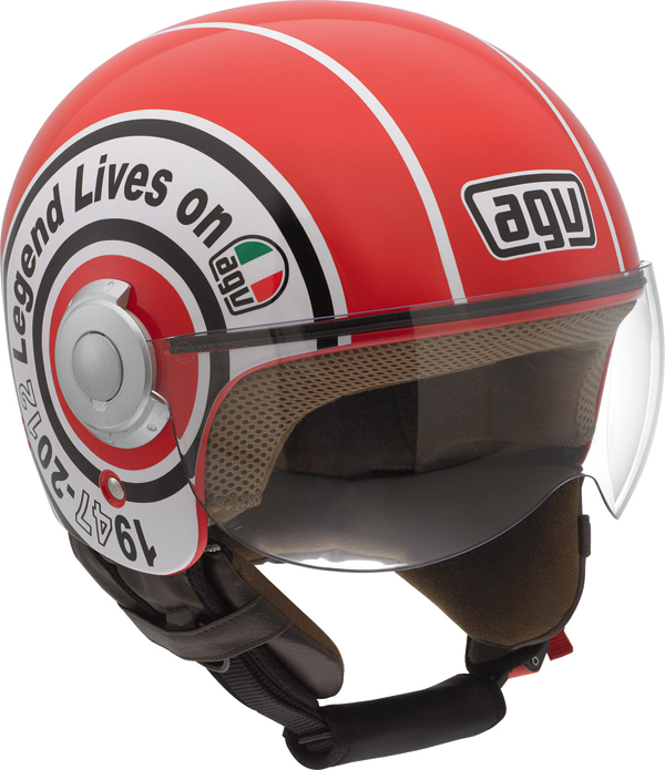 Agv Bali Copter Multi Legend jet helmet red