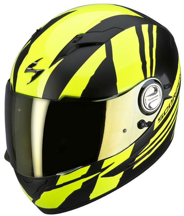 Full face helmet Scorpion EXO 500 Matte Black Neon Yellow Thunde