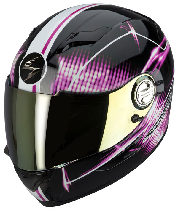 Full face helmet Scorpion EXO 500 Black Pink Quasar