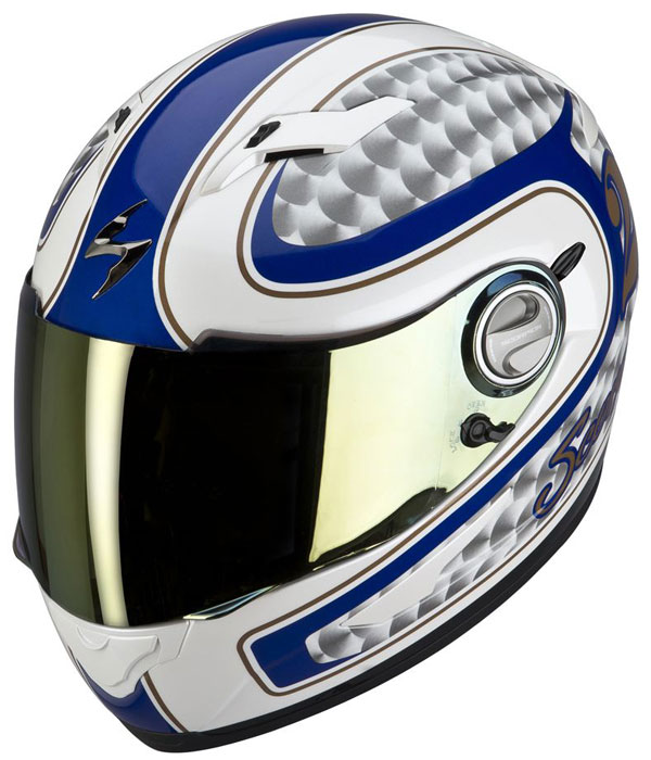 Full face helmet Scorpion EXO 500 Classic Silver Blue