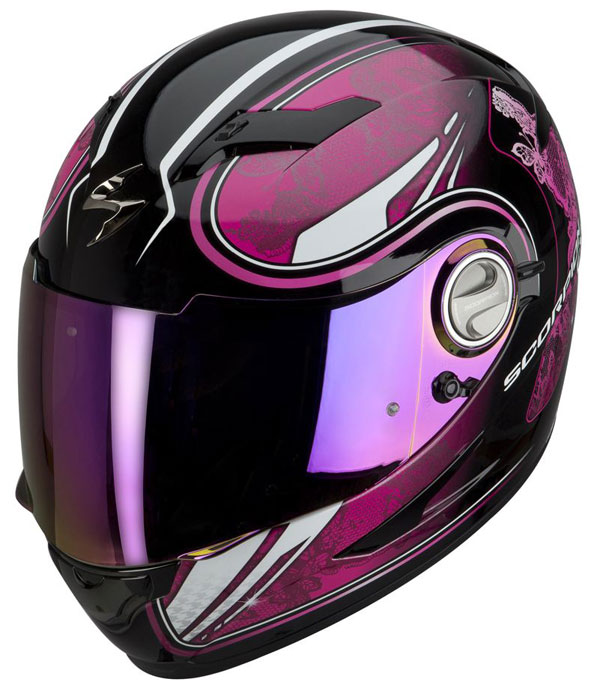 Full face helmet Scorpion EXO 500 Black Pink Laces