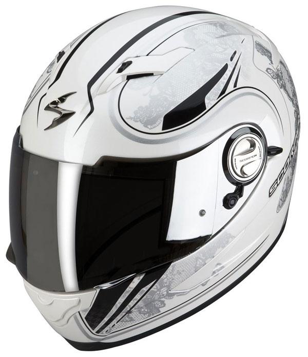 Casco integrale Scorpion EXO 500 Laces Bianco Argento
