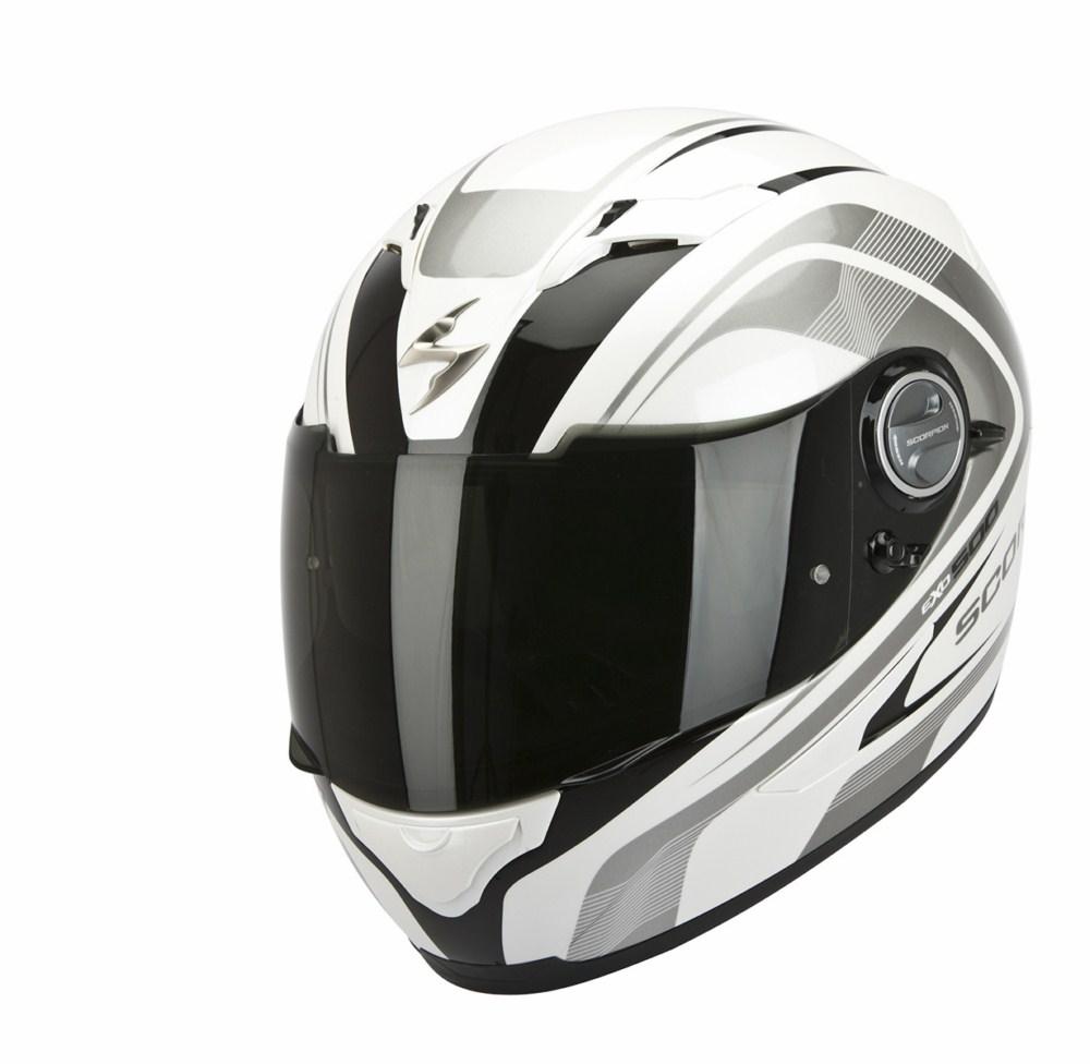Scorpion Exo 500 Air Focus full face helmet white black
