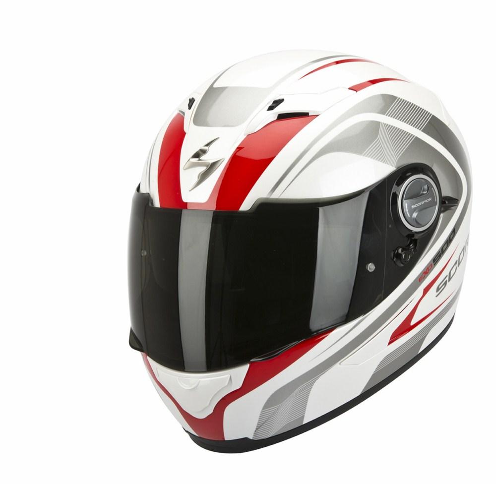 Scorpion Exo 500 Air Focus full face helmet white red