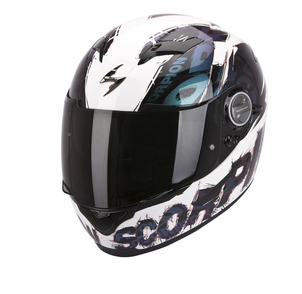 Scorpion Exo 500 Air Crust full face helmet white chameleon