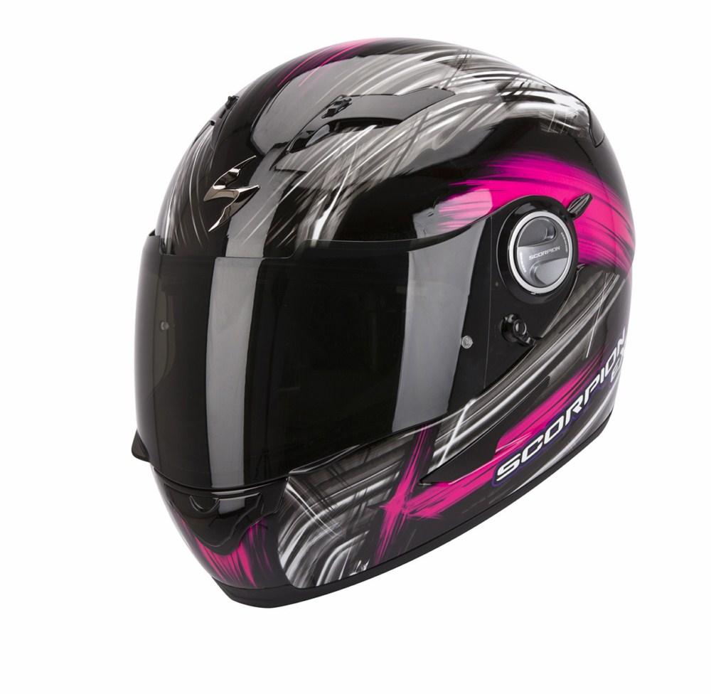 Scorpion Exo 500 Air Ewok full face helmet black pink