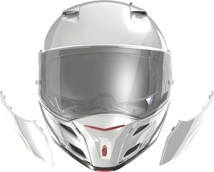 LS2 FF324 Metro flip off helmet White