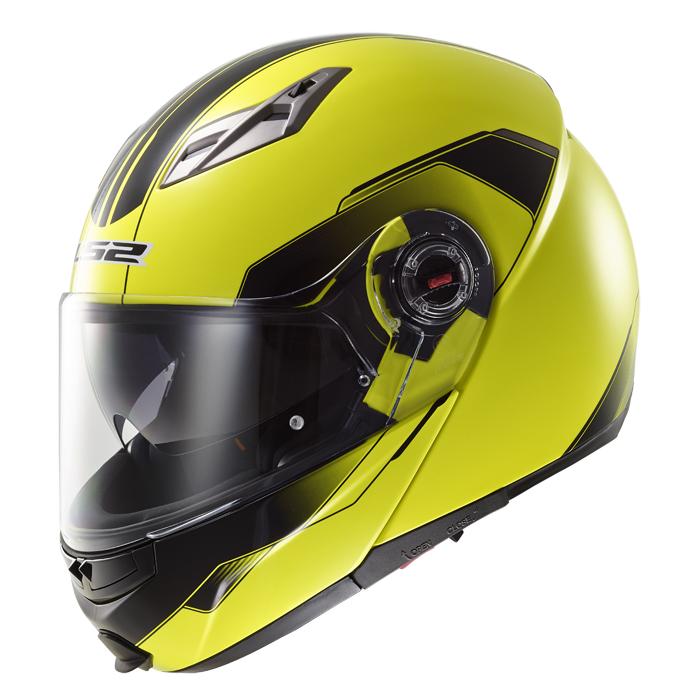 Modular helmet LS2 FF370 Shadow fluorescent yellow