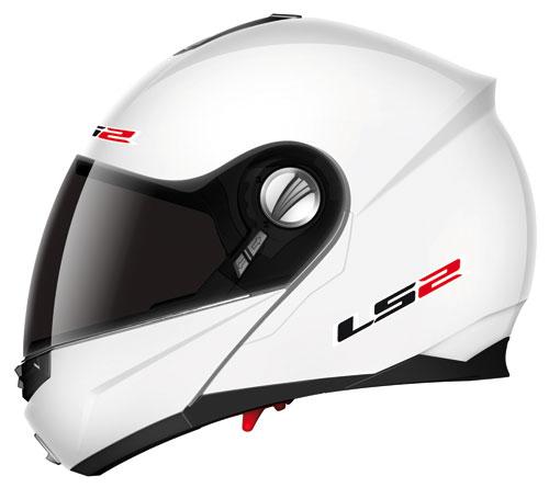 Casco moto modulare LS2 FF386.1 Ride bianco lucido