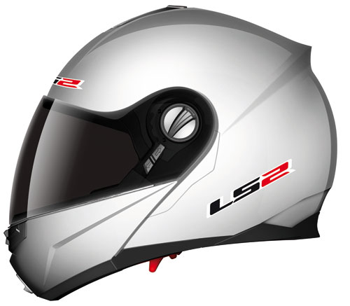 LS2 ff386.1 Ride openface helmet gloss silver*