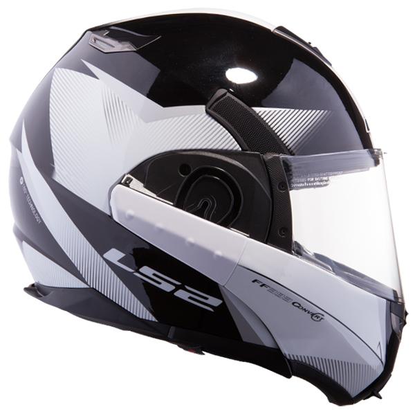 Modular helmet LS2 FF393 Black Matte Black Hawk