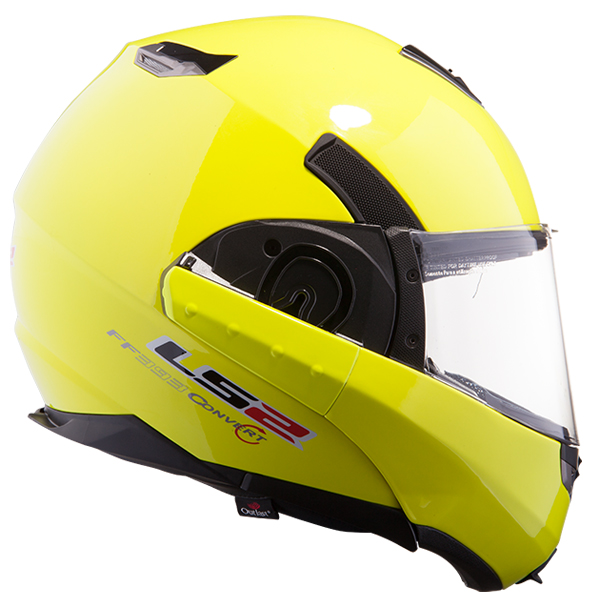 Modular helmet LS2 FF393 Black Hawk fluorescent yellow