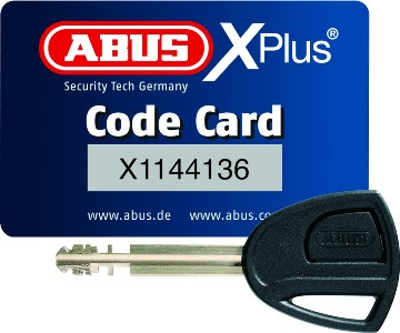 Chain Abus Granit 58 14ks Black bow with loop 120 cm 260 mm