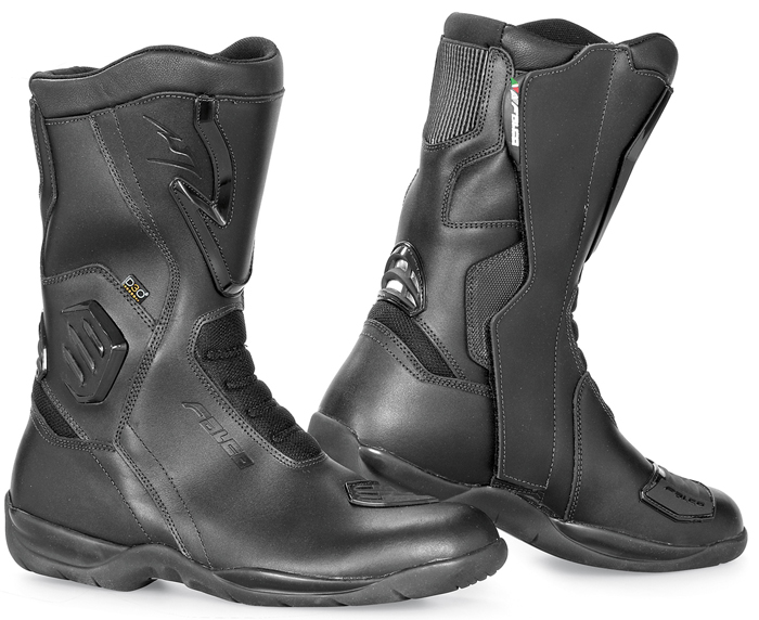 Falco Kodo Black leather motorcycle boots