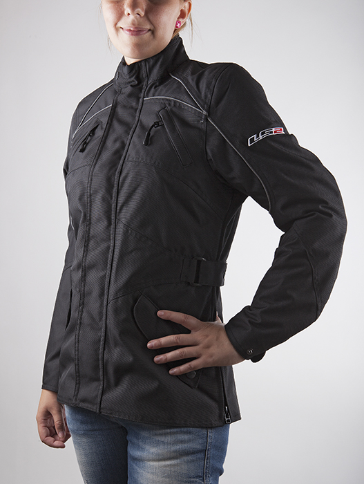 Giacca moto donna LS2 Butterfly Nero
