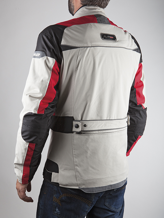 Giacca moto LS2 Pacific Bianco Rosso