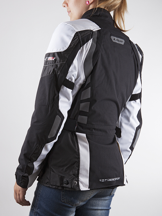 LS2 motorcycle jacket woman Baltic Black White