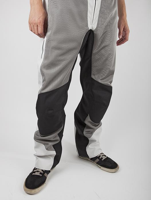 Pantaloni moto estivi LS2 Breeze Nero Grigio chiaro