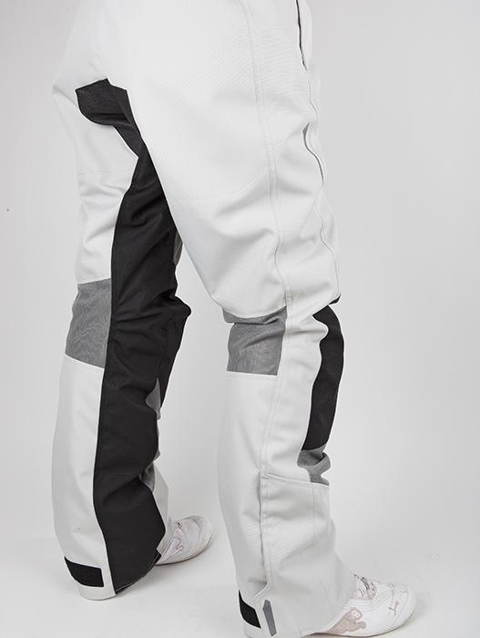 Pantaloni moto donna estivi LS2 Breeze Nero Grigio chiaro