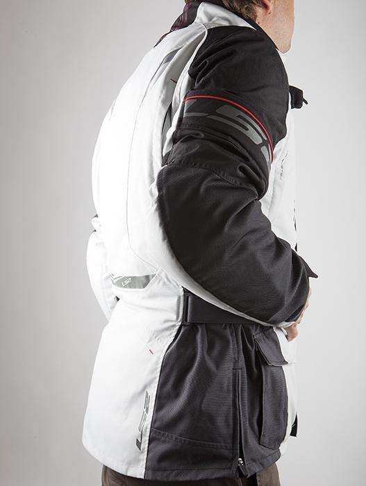 LS2 Motorcycle Jacket Tundra Black Light Grey