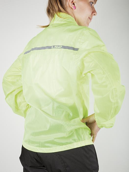 Waterproof jacket woman LS2 Proof Fluorescent Yellow