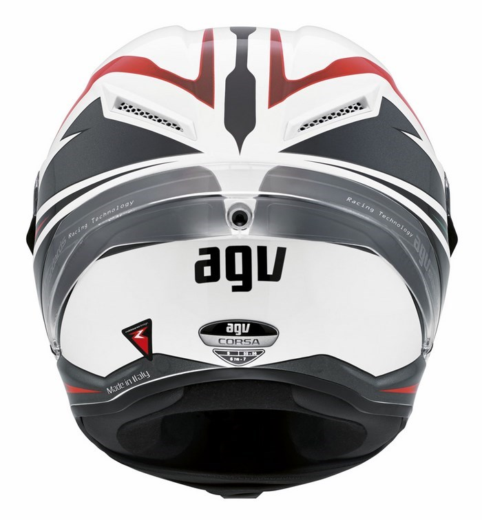 Casco moto Agv Race Corsa Multi Velocity bianco-nero-rosso