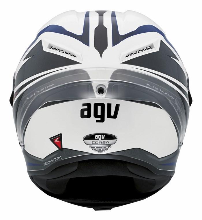 Casco moto Agv Race Corsa Multi Velocity bianco-nero-blu