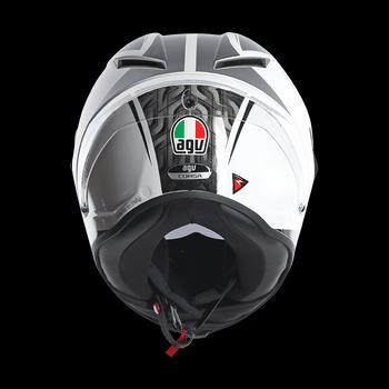 Agv Race Corsa Circuit full face helmet White Black Red