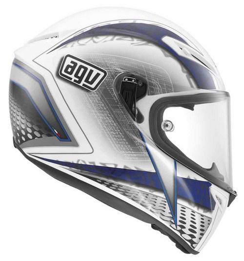 Agv GT Veloce Multi Cyborg fullface helmet white black blue