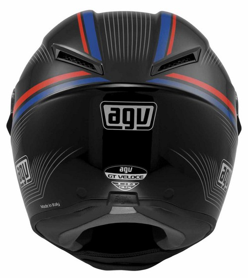 Casco moto Agv GT Veloce Multi Aspide nero-rosso-blu