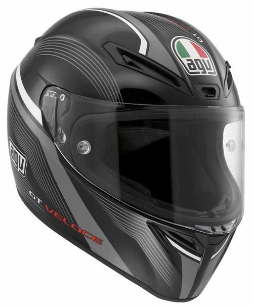 Agv GT Veloce Multi Aspide fullface helmet black-gunmetal-white
