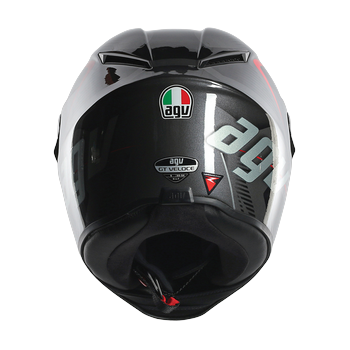 AGV GT Veloce TXT full face helmet Black Gunmetal Red