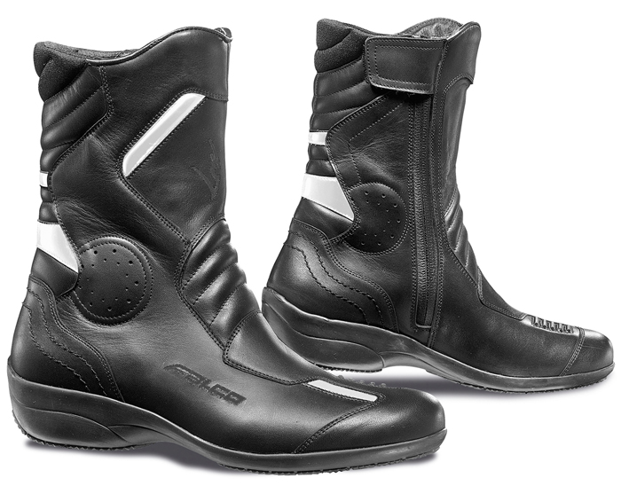 Woman leather motorcycle boots Falco Venus 2 Black Ice