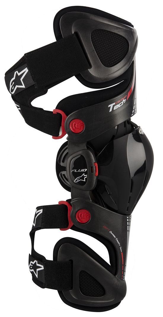 Fluid left knee protection Alpinestars Tech Carbon Antr