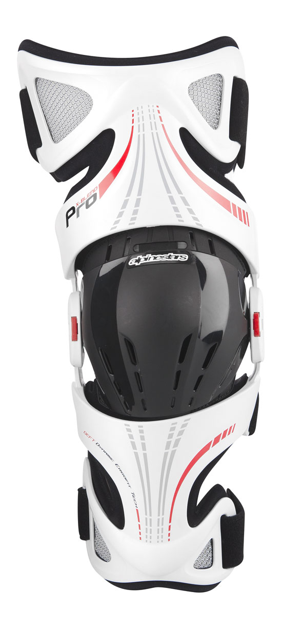 Knee Protectors Alpinestars Fluid Pro White Red Black