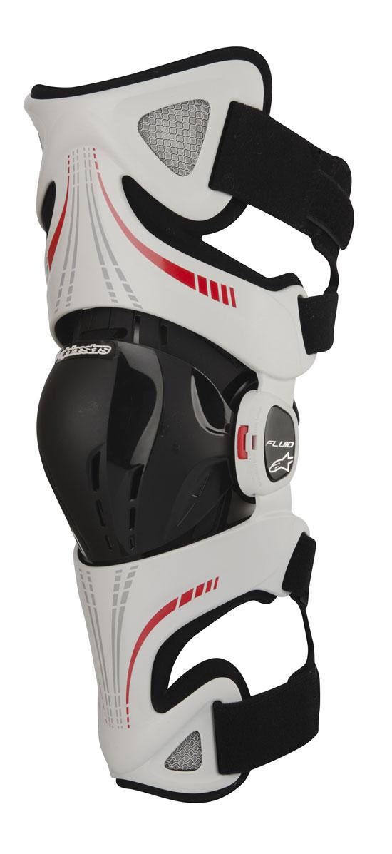 Knee Protectors Alpinestars Fluid Pro White Red Black