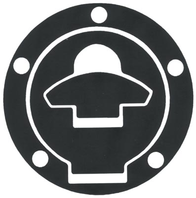 Adesivo resinato proteggi tappo serbatoio Ducati Progrip Carboni