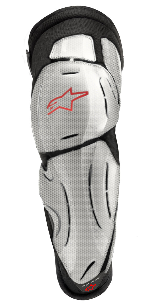 Alpinestars Bionic SX Knee Guards Red Titanium