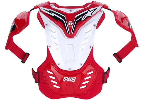 Alpinestars Youth Storm MX chest protector red