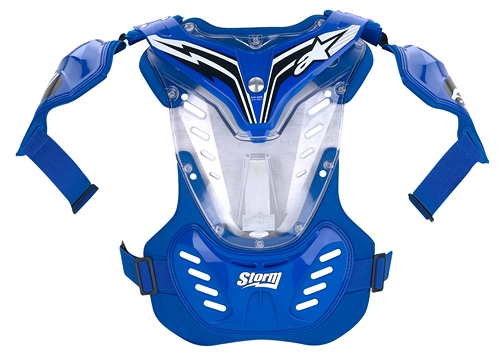 Alpinestars Youth Storm MX chest protector blue