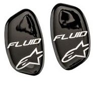 Couple cover hinges for knee Alpinestars Black Fluid
