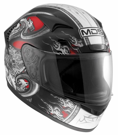 Casco moto Mds by Agv New Sprinter Multi Creature rosso