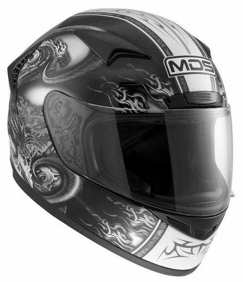 Casco moto Mds by Agv New Sprinter Multi Creature nero