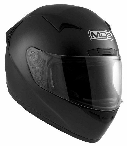Casco moto MDS by Agv New Sprinter Mono nero opaco
