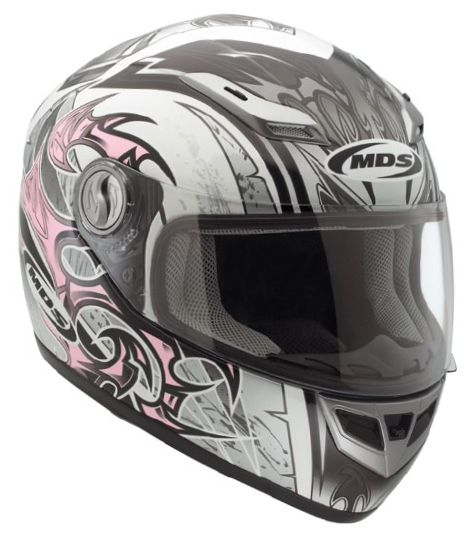 Mds by Agv Multi Sprinter Age full-face helmet white-pink